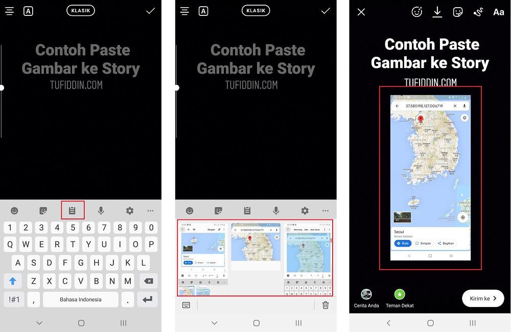 Menambahkan gambar atau foto ke Instagram Story
