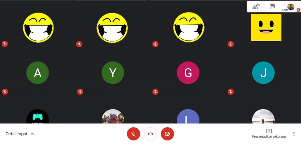 Menampilkan Grid View Google Meet
