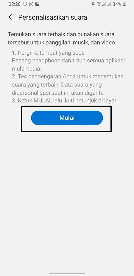 Mengatur Suara Headset Samsung